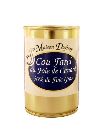 Cou farci au foie gras de...